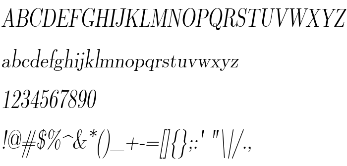 Font preview Latin Modern Roman Dunhill 10 Oblique