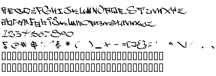 Font preview West Side Plain