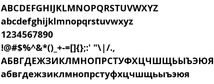 Open Sans Bold - free font download on AllFont net