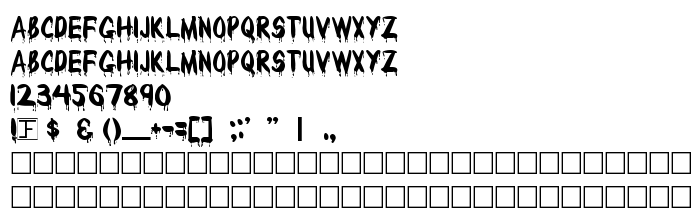Font preview Bloody
