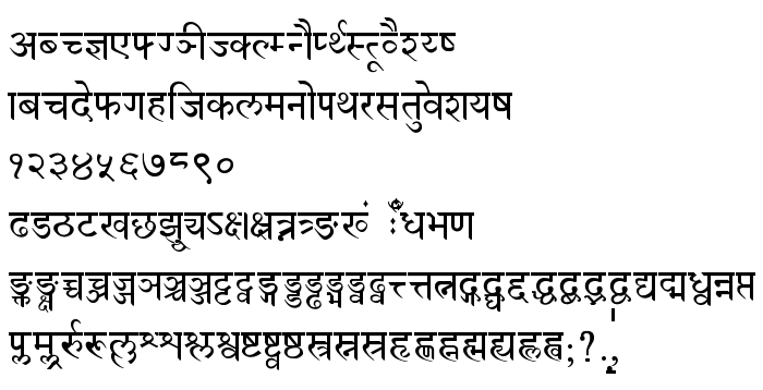 Devanagari Normal - free font download on AllFont net
