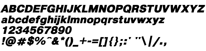 pragmatica ext black oblique font