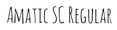 Amatic SC Regular - free font download on AllFont net